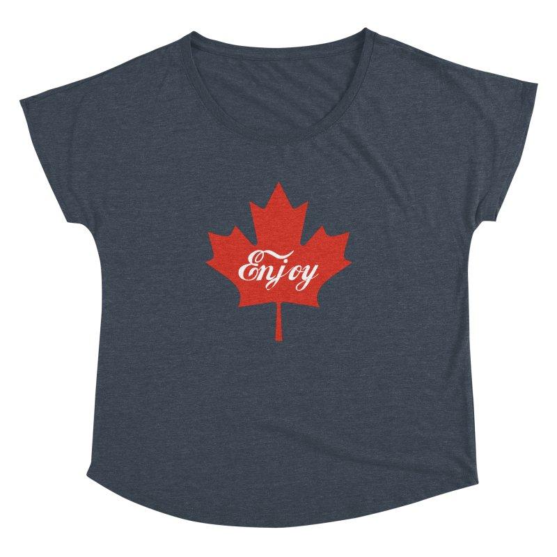 Enjoy Canada Women's Dolman Scoop Neck by