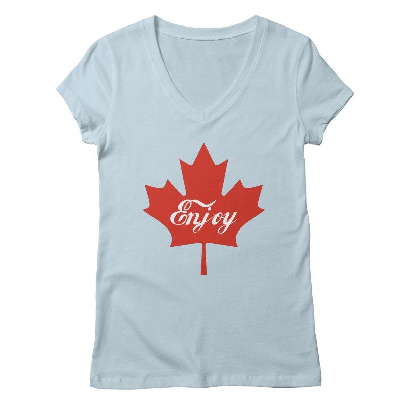 Enjoy Canada Women's Regular V-Neck by
