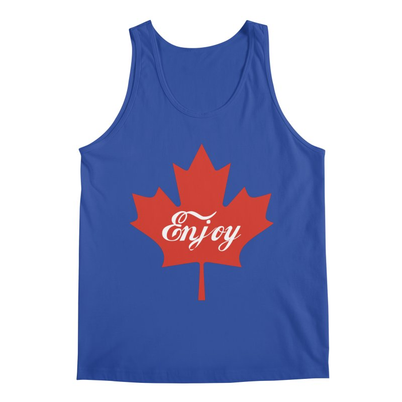 Enjoy Canada in Men's Regular Tank Royal Blue by