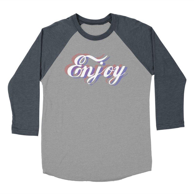 Enjoy 3D Men's Baseball Triblend Longsleeve T-Shirt by