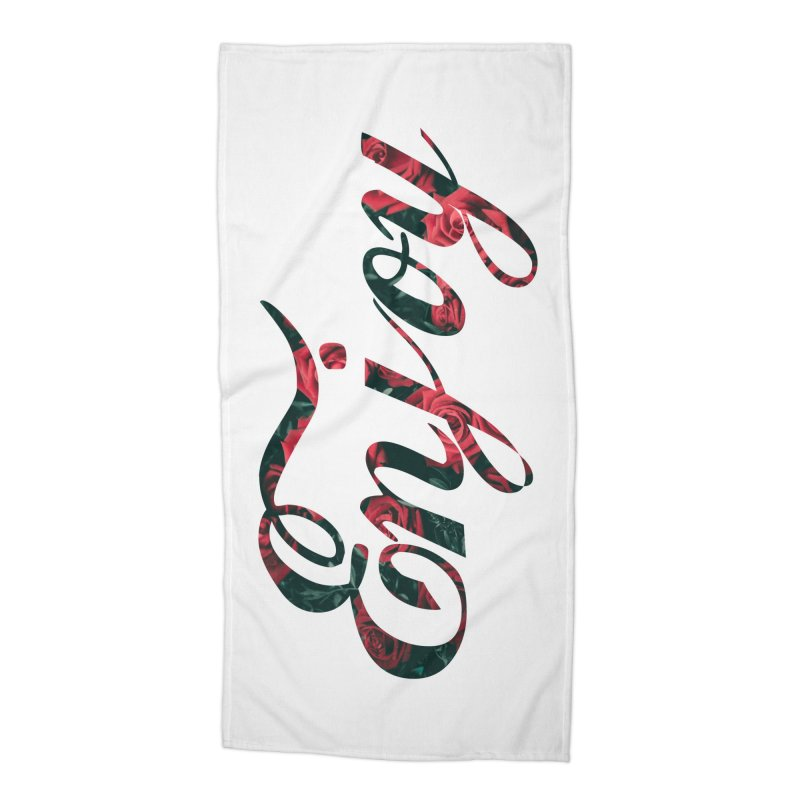 Enjoy the Roses Accessories Beach Towel by