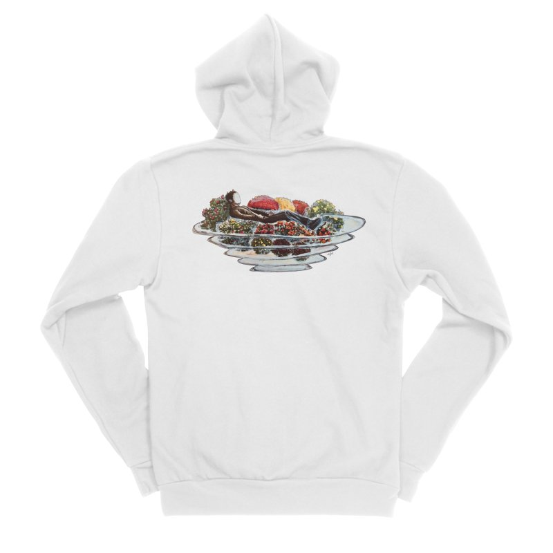You've Got to Stop and Smell the Flowers Men's Sponge Fleece Zip-Up Hoody by