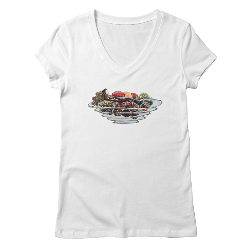 You've Got to Stop and Smell the Flowers Women's Regular V-Neck by