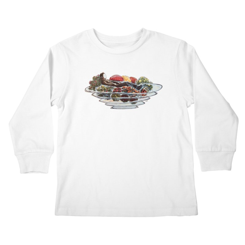 You've Got to Stop and Smell the Flowers Kids Longsleeve T-Shirt by