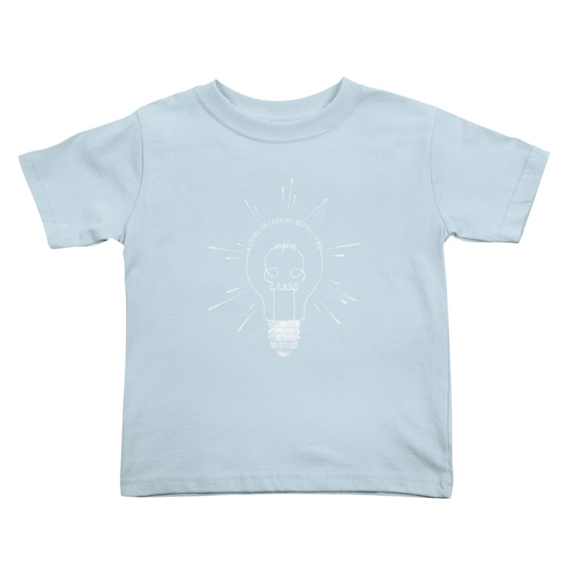 INSPIRE (grunge) Kids Toddler T-Shirt by EnoLa's Artist Shop