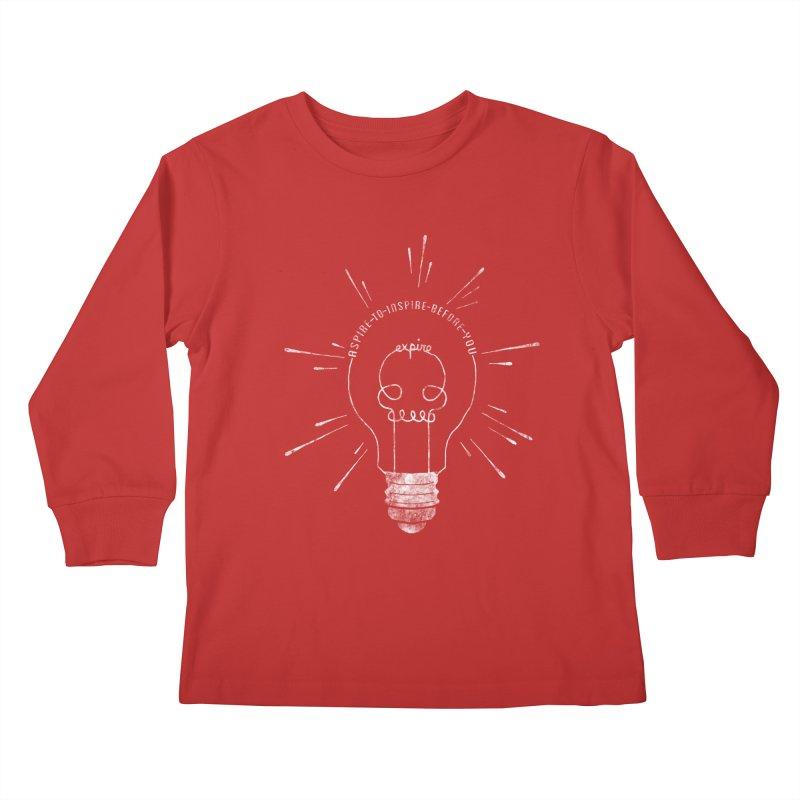 INSPIRE (grunge) Kids Longsleeve T-Shirt by EnoLa's Artist Shop