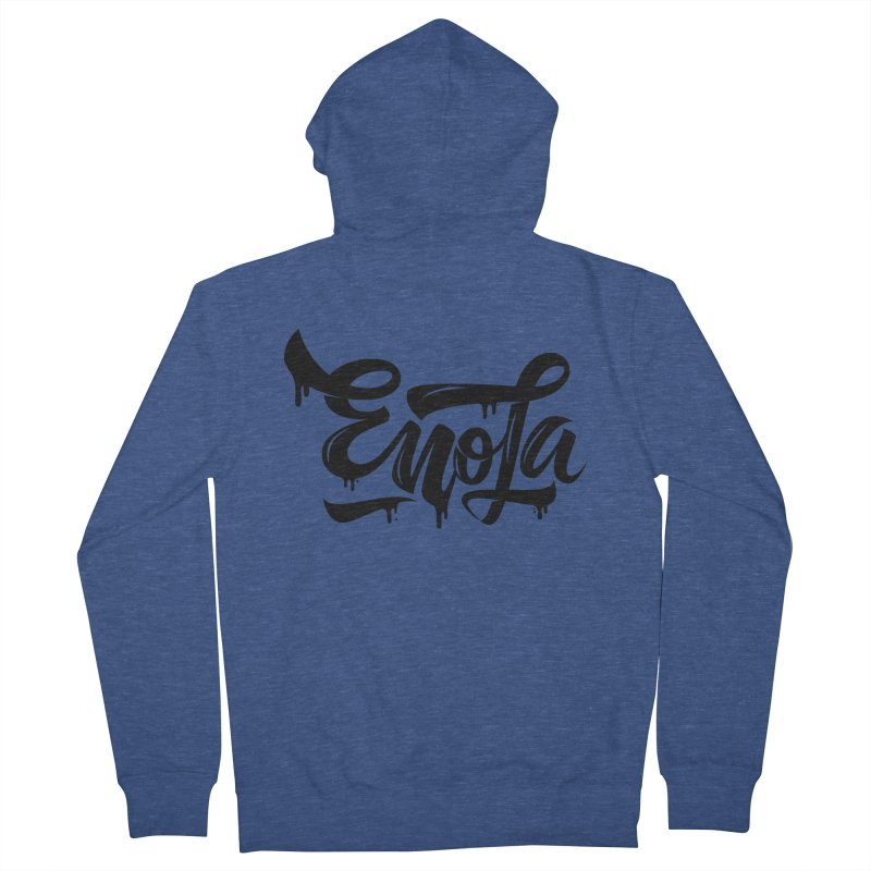 EnoLa drip Men's Zip-Up Hoody by EnoLa's Artist Shop