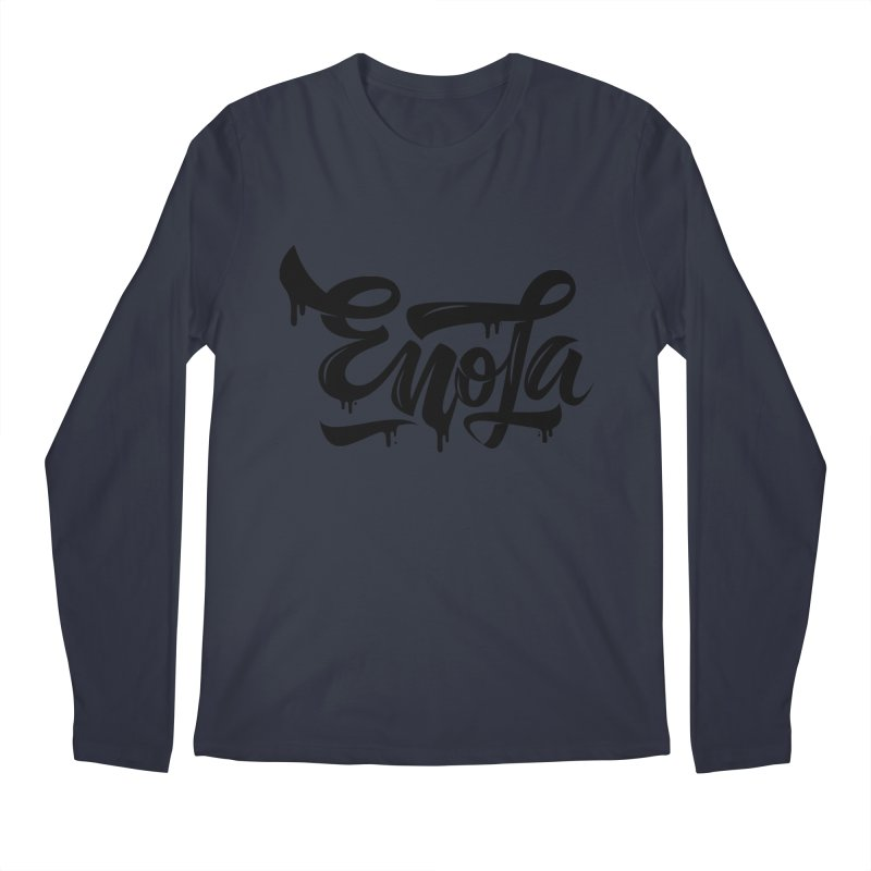 EnoLa drip Men's Longsleeve T-Shirt by EnoLa's Artist Shop