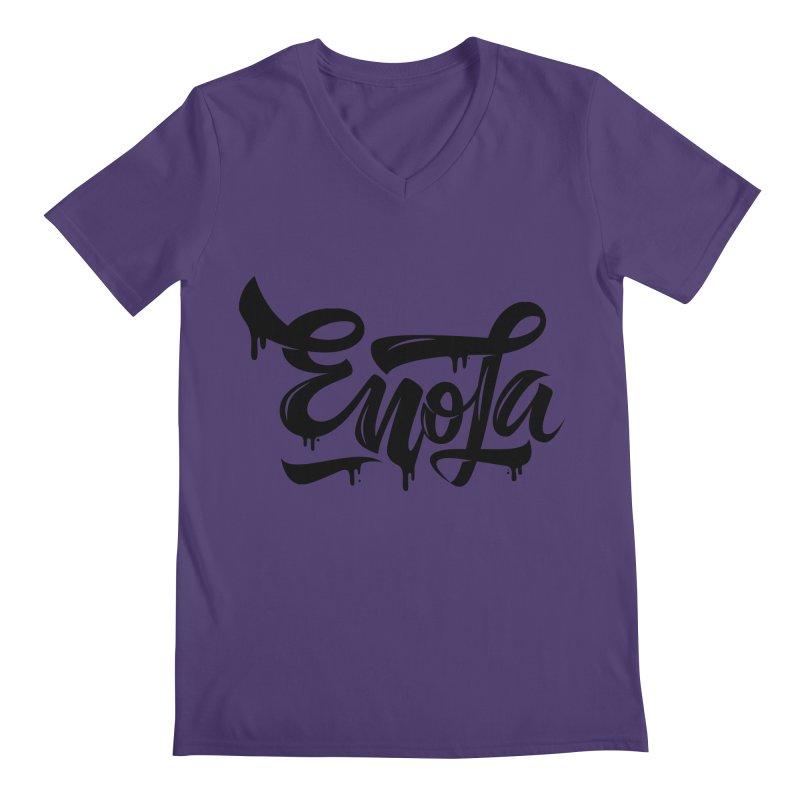 EnoLa drip Men's V-Neck by EnoLa's Artist Shop