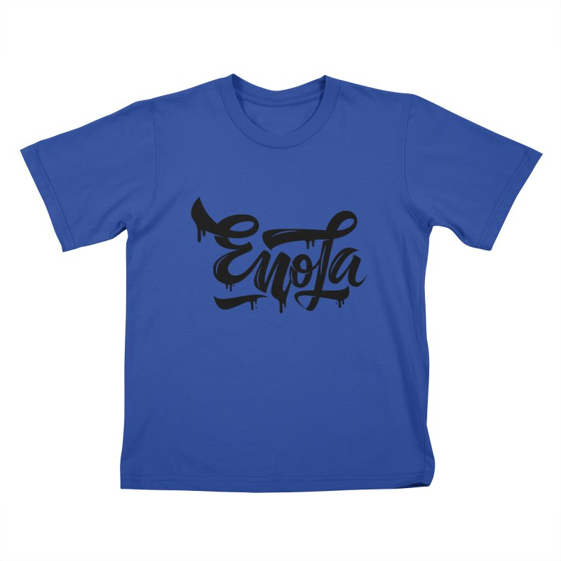 EnoLa drip Kids T-shirt by EnoLa's Artist Shop