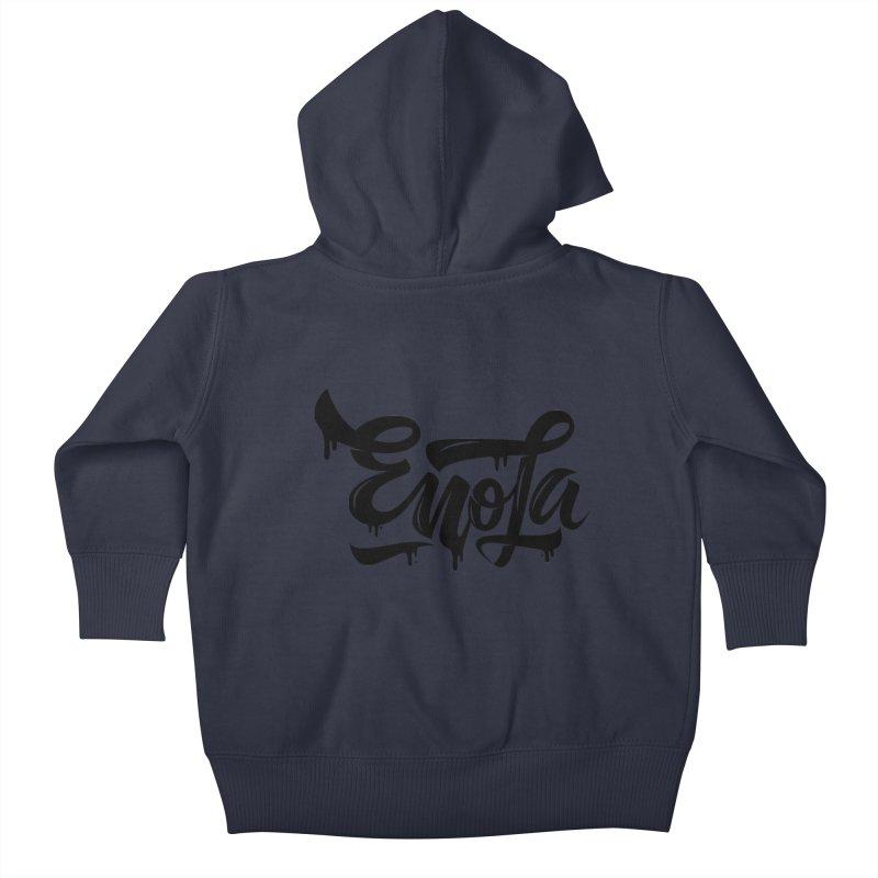 EnoLa drip Kids Baby Zip-Up Hoody by EnoLa's Artist Shop