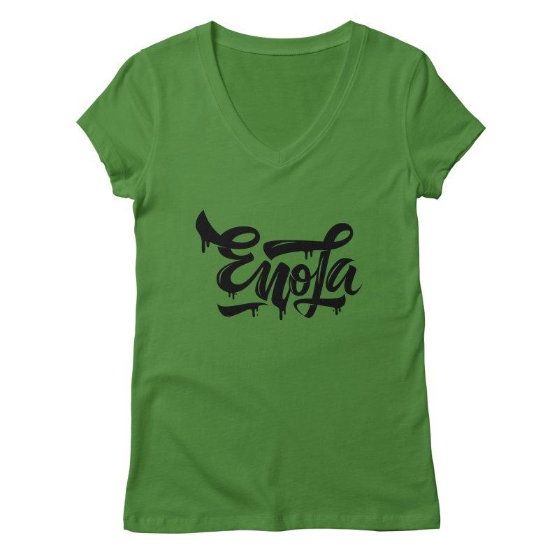 EnoLa drip Women's V-Neck by EnoLa's Artist Shop