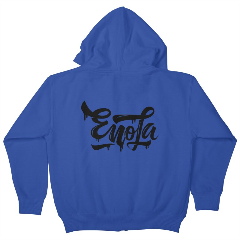 EnoLa drip Kids Zip-Up Hoody by EnoLa's Artist Shop