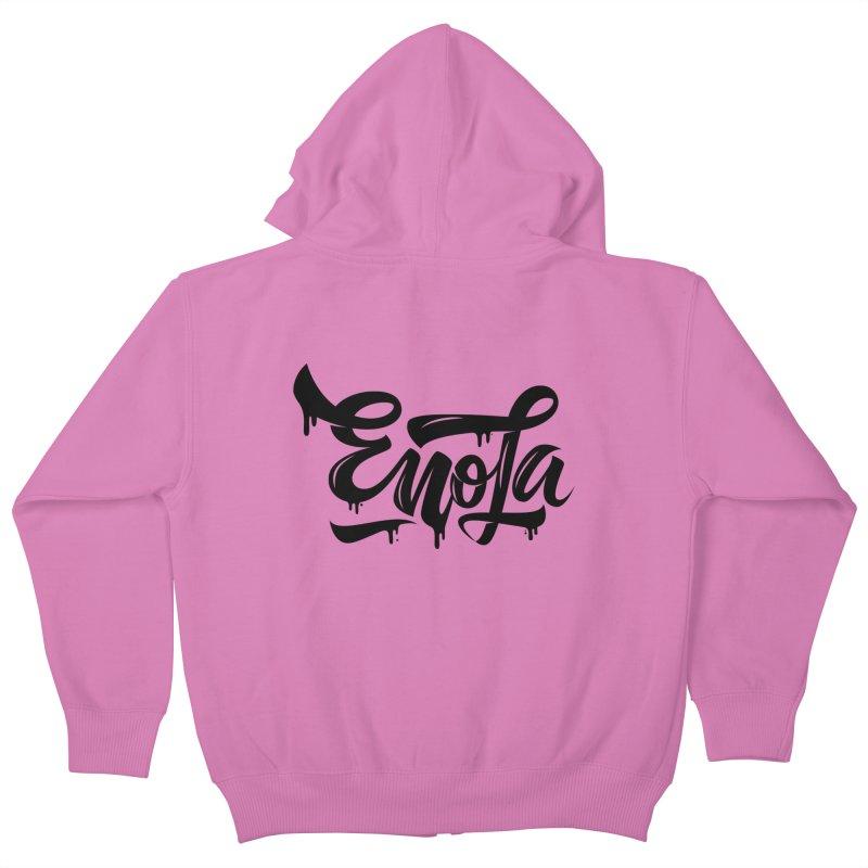 EnoLa drip Kids Zip-Up Hoody by EnoLa's Artist Shop