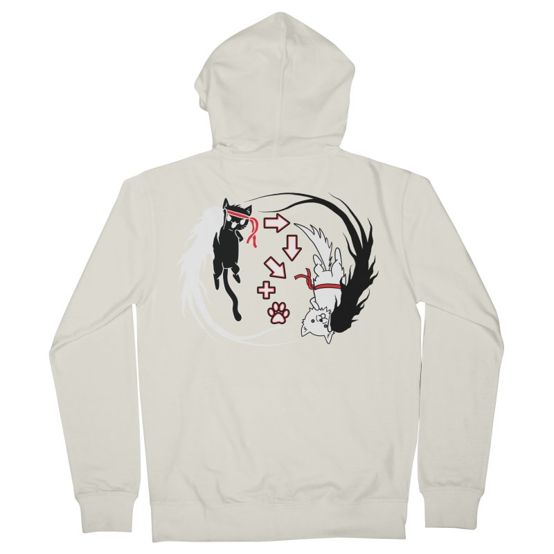 Paw-yuken! Men's Zip-Up Hoody by EnoLa's Artist Shop