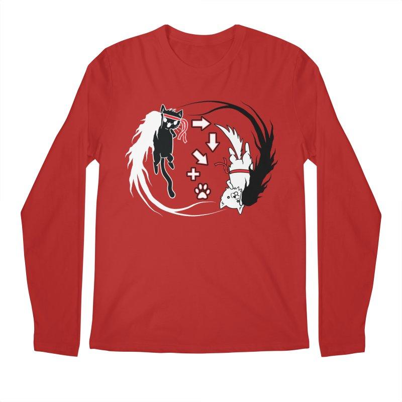Paw-yuken! Men's Longsleeve T-Shirt by EnoLa's Artist Shop