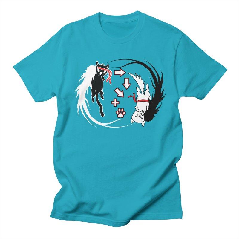 Paw-yuken! Men's T-shirt by EnoLa's Artist Shop