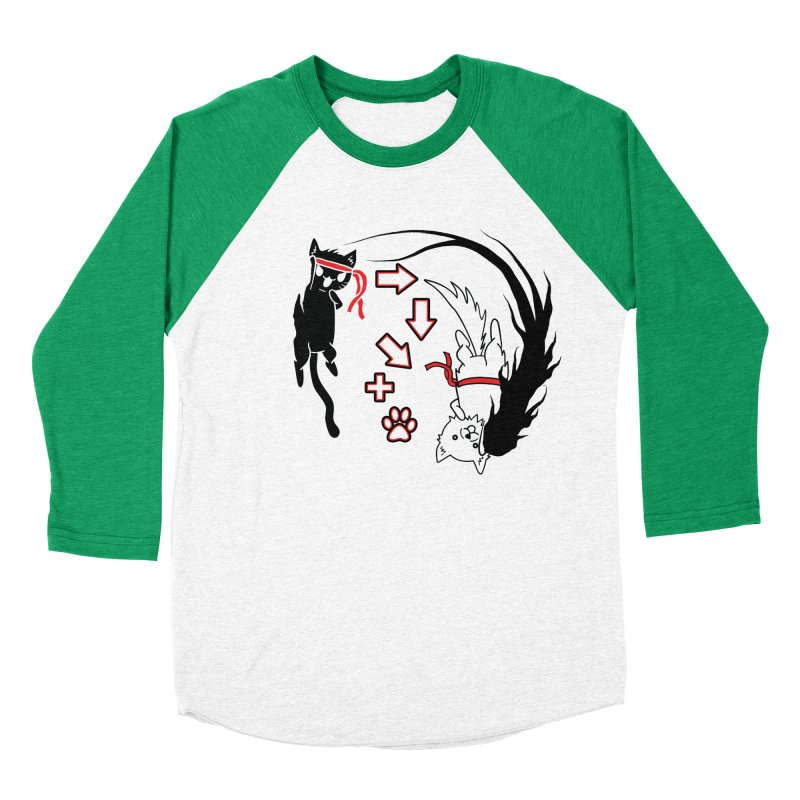 Paw-yuken! Women's Baseball Triblend T-Shirt by EnoLa's Artist Shop