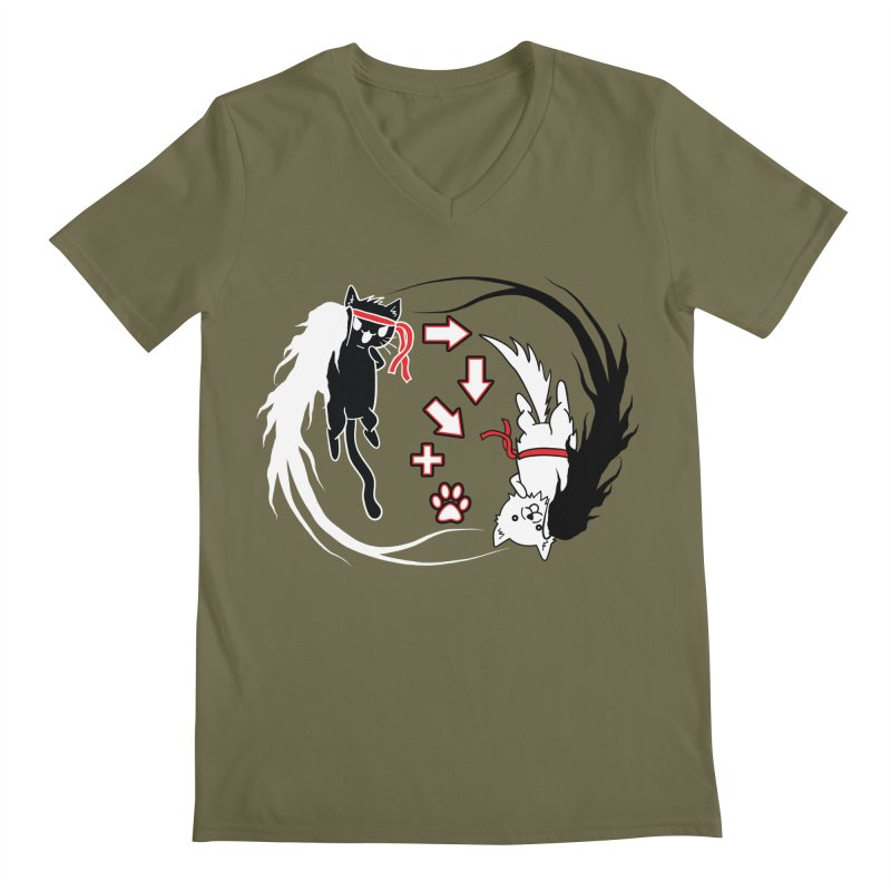 Paw-yuken! Men's V-Neck by EnoLa's Artist Shop