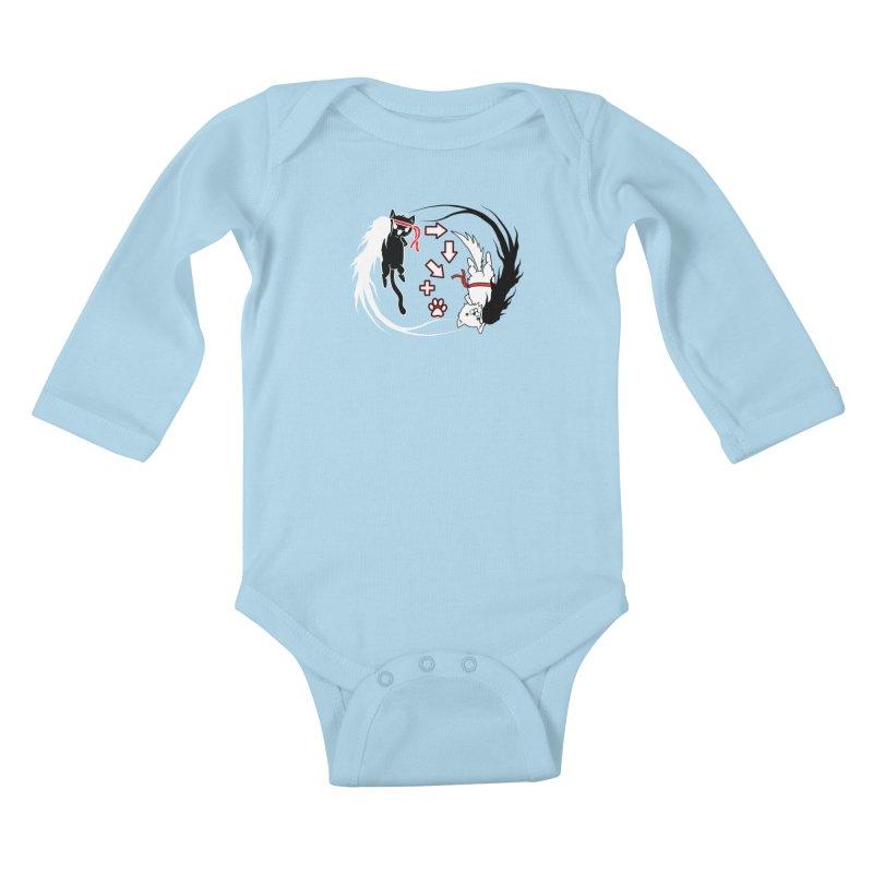 Paw-yuken! Kids Baby Longsleeve Bodysuit by EnoLa's Artist Shop