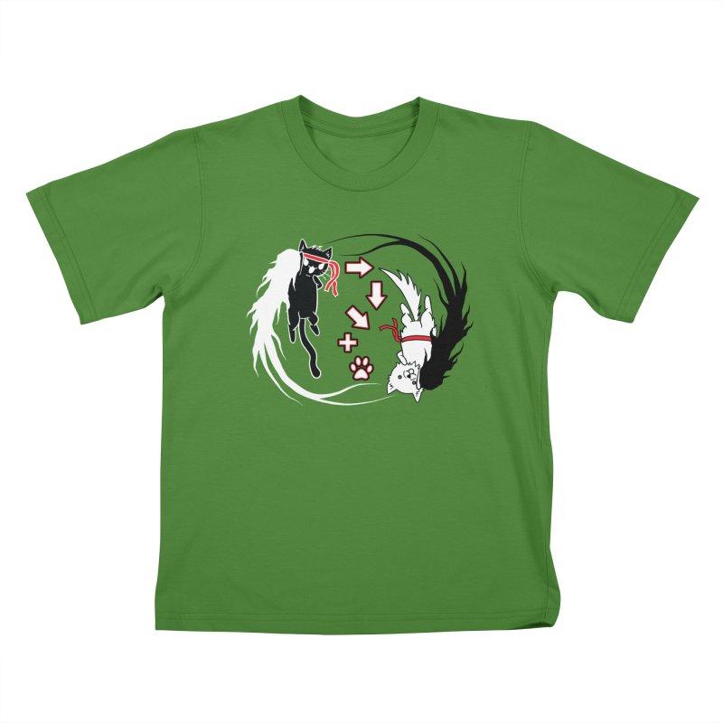 Paw-yuken! Kids T-shirt by EnoLa's Artist Shop