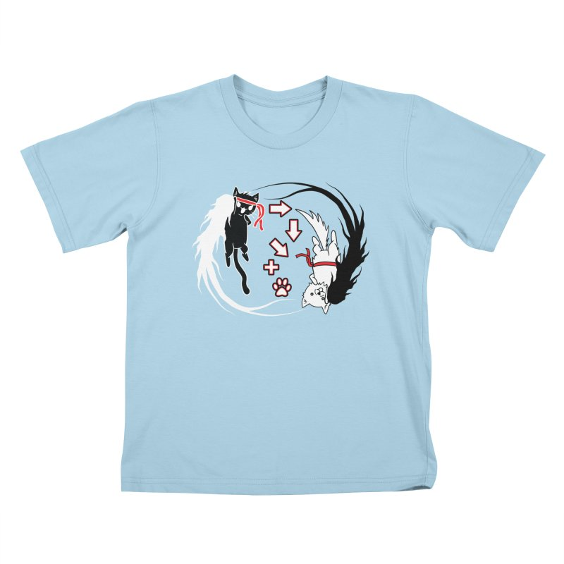 Paw-yuken! Kids T-shirt by EnoLa's Artist Shop