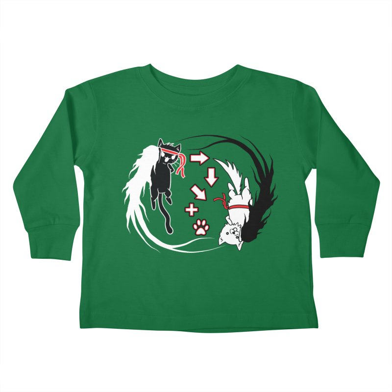 Paw-yuken! Kids Toddler Longsleeve T-Shirt by EnoLa's Artist Shop