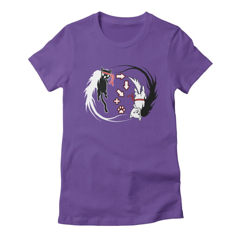 Paw-yuken! Women's Fitted T-Shirt by EnoLa's Artist Shop