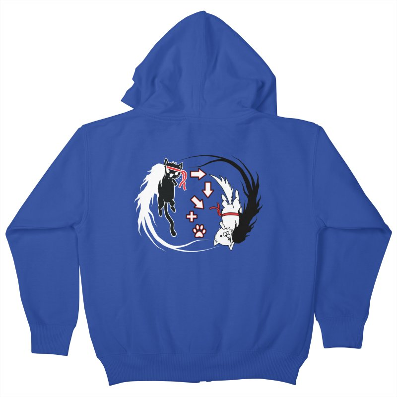 Paw-yuken! Kids Zip-Up Hoody by EnoLa's Artist Shop