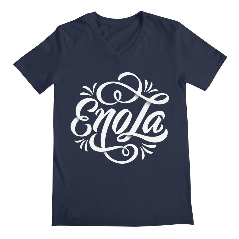 Circle of EnoLa Men's V-Neck by EnoLa's Artist Shop