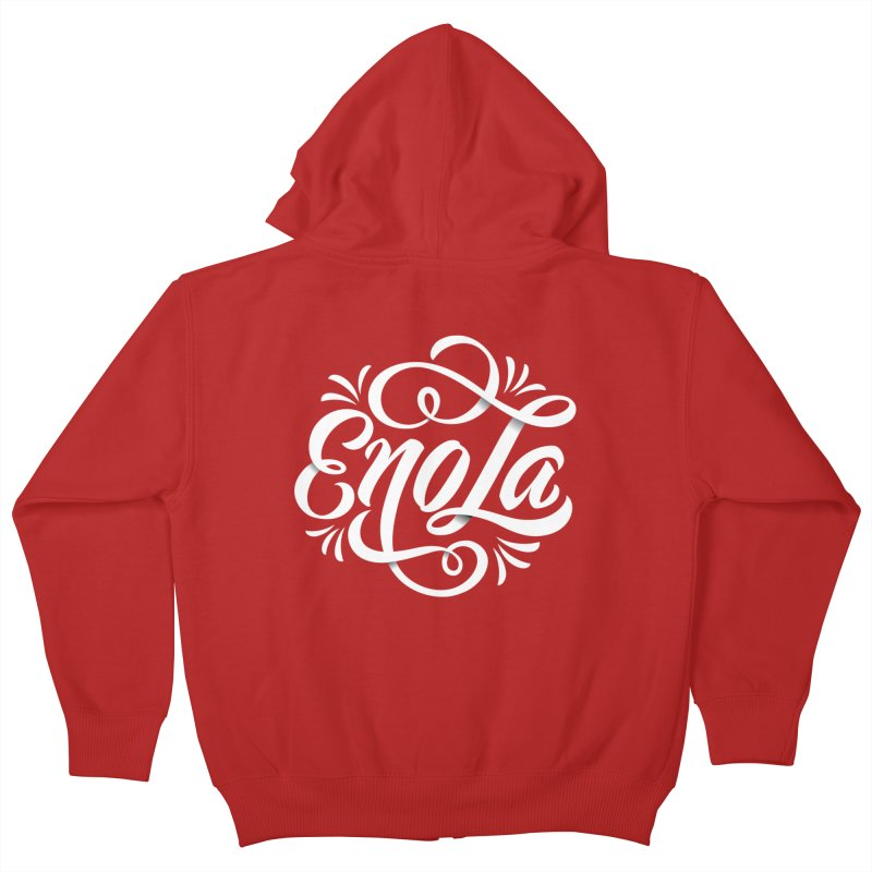 Circle of EnoLa Kids Zip-Up Hoody by EnoLa's Artist Shop