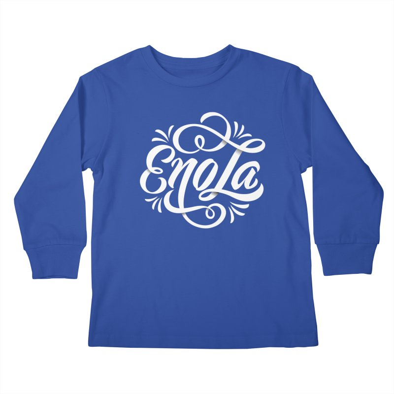 Circle of EnoLa Kids Longsleeve T-Shirt by EnoLa's Artist Shop