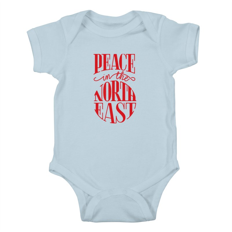 Peace in the Northeast Kids Baby Bodysuit by Flatirony