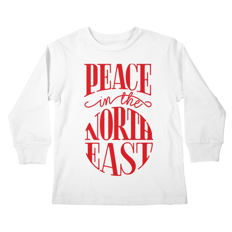 Peace in the Northeast Kids Longsleeve T-Shirt by Flatirony