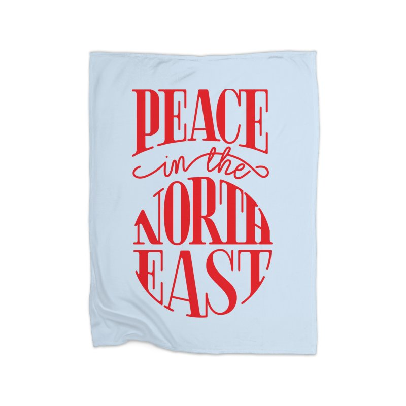 Peace in the Northeast Home Fleece Blanket Blanket by Flatirony
