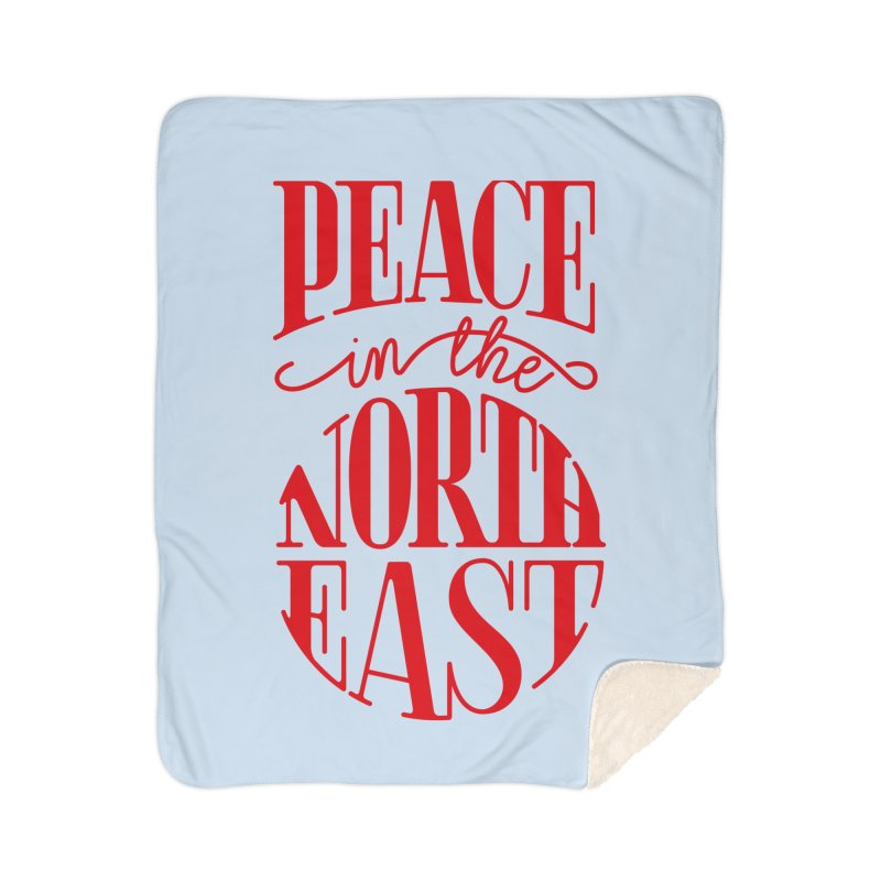 Peace in the Northeast Home Blanket by Flatirony