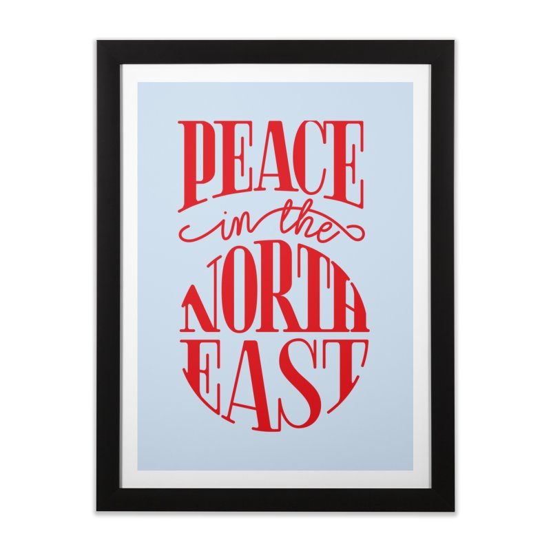 Peace in the Northeast Home Framed Fine Art Print by Flatirony