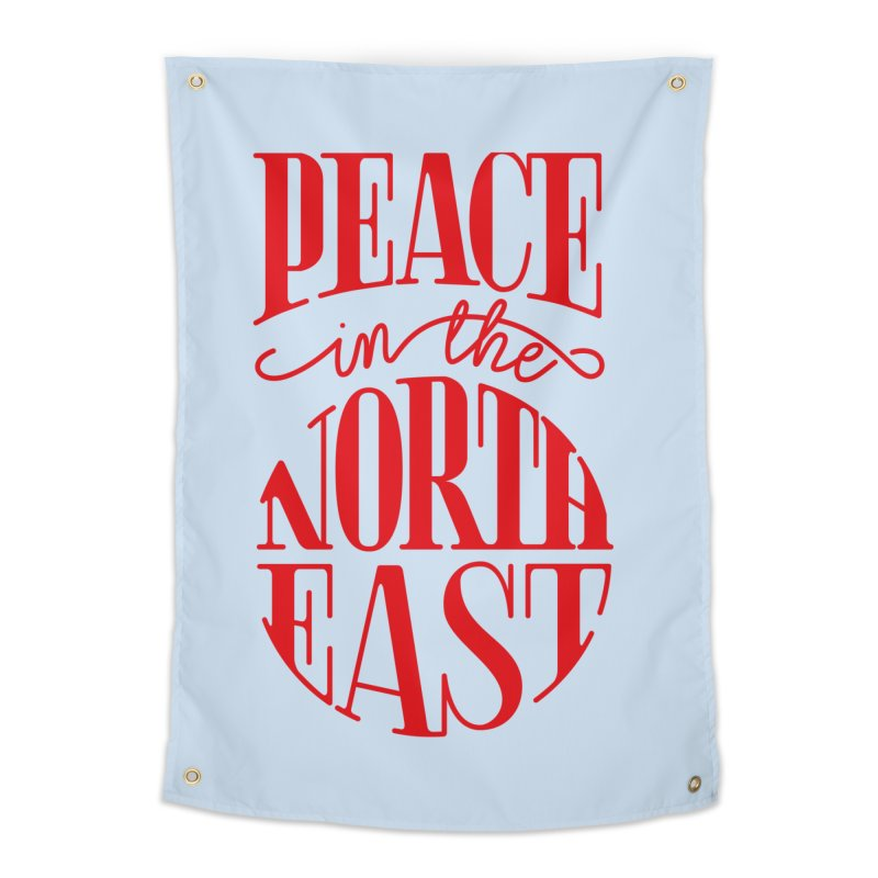 Peace in the Northeast Home Tapestry by Flatirony