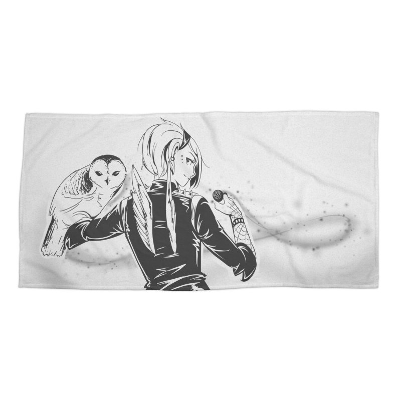 Punk Harpy Accessories Beach Towel by enorie