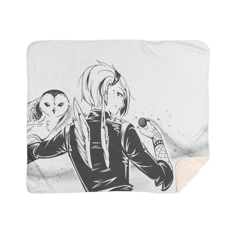 Punk Harpy Home Sherpa Blanket Blanket by enorie