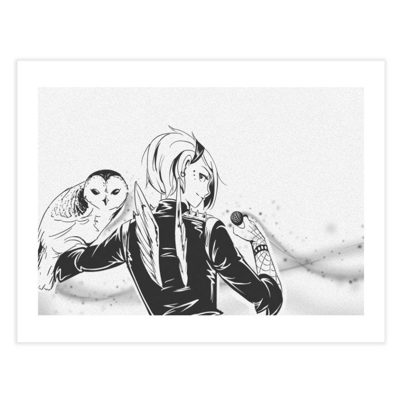 Punk Harpy Home Fine Art Print by enorie