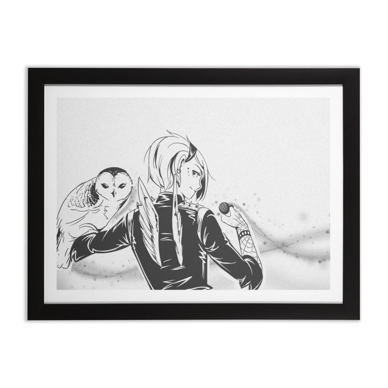 Punk Harpy Home Framed Fine Art Print by enorie