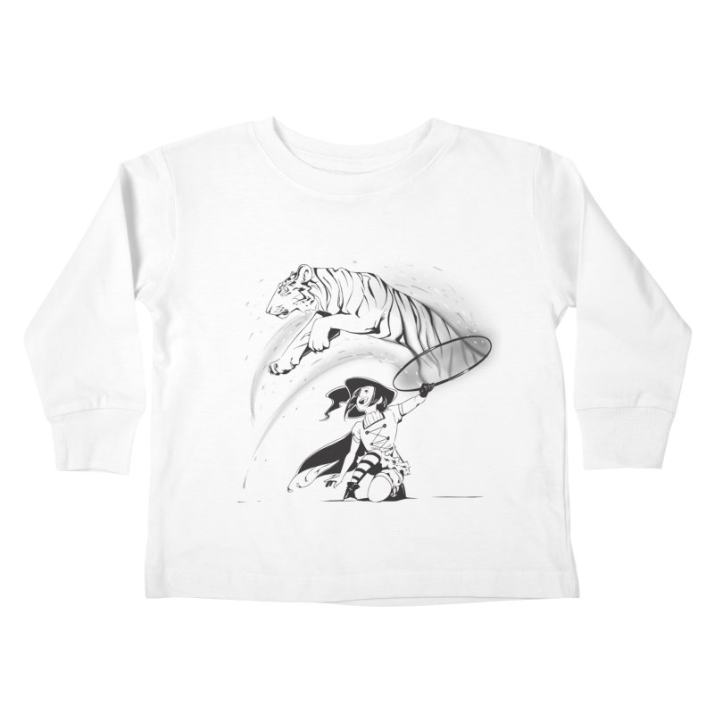 Circus Witch Kids Toddler Longsleeve T-Shirt by enorie