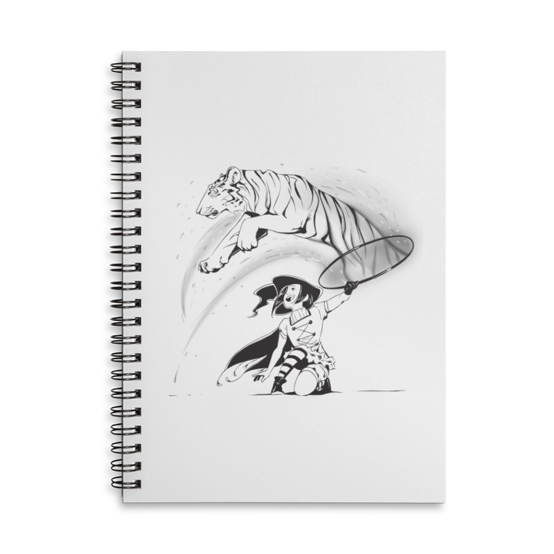 Circus Witch Accessories Lined Spiral Notebook by enorie