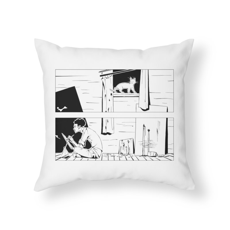 Artist Witch Home Throw Pillow by enorie