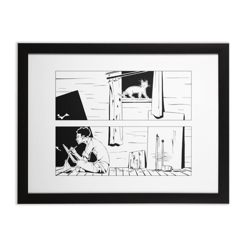 Artist Witch in Framed Fine Art Print Black by enorie