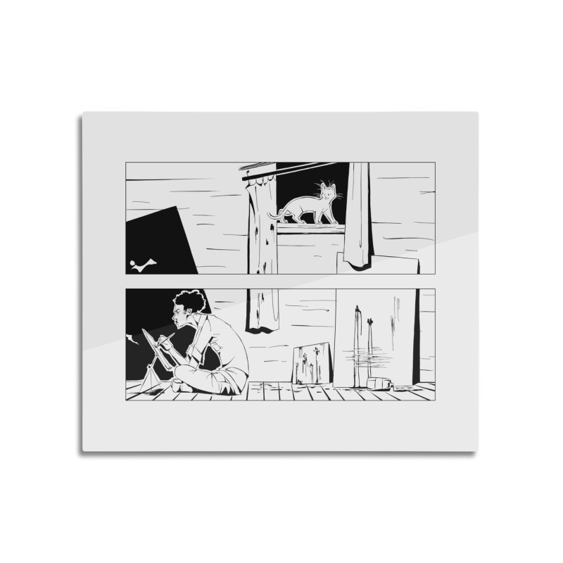 Artist Witch Home Mounted Aluminum Print by enorie