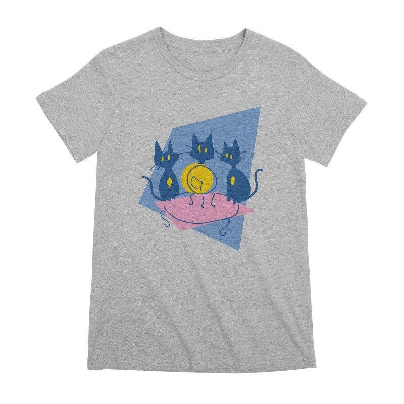 Three Sisters Black Women's Premium T-Shirt by enorie