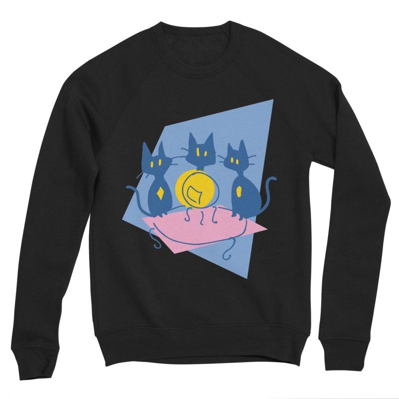 Three Sisters Black Men's Sponge Fleece Sweatshirt by enorie