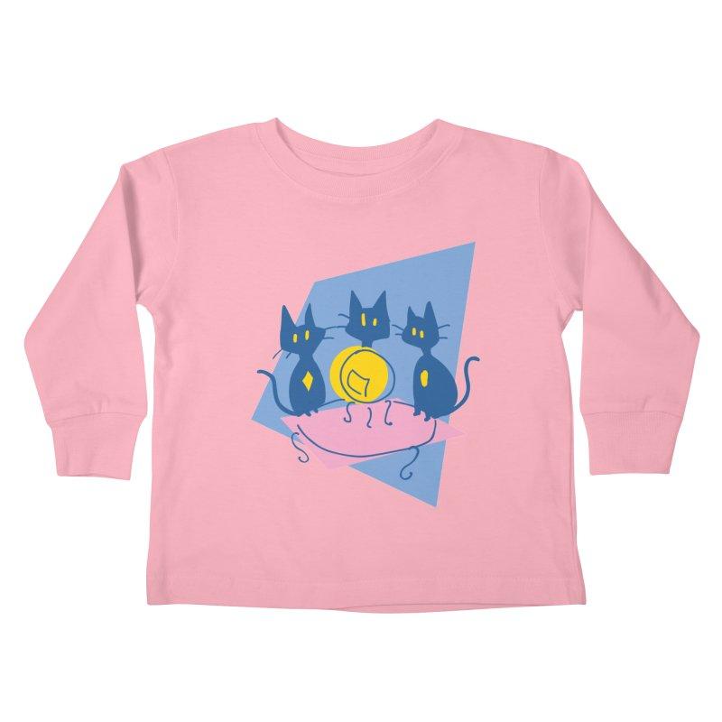 Three Sisters Black Kids Toddler Longsleeve T-Shirt by enorie